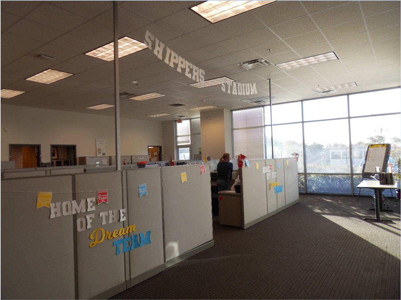 Austell associates decorated their cubicles Dream Team style