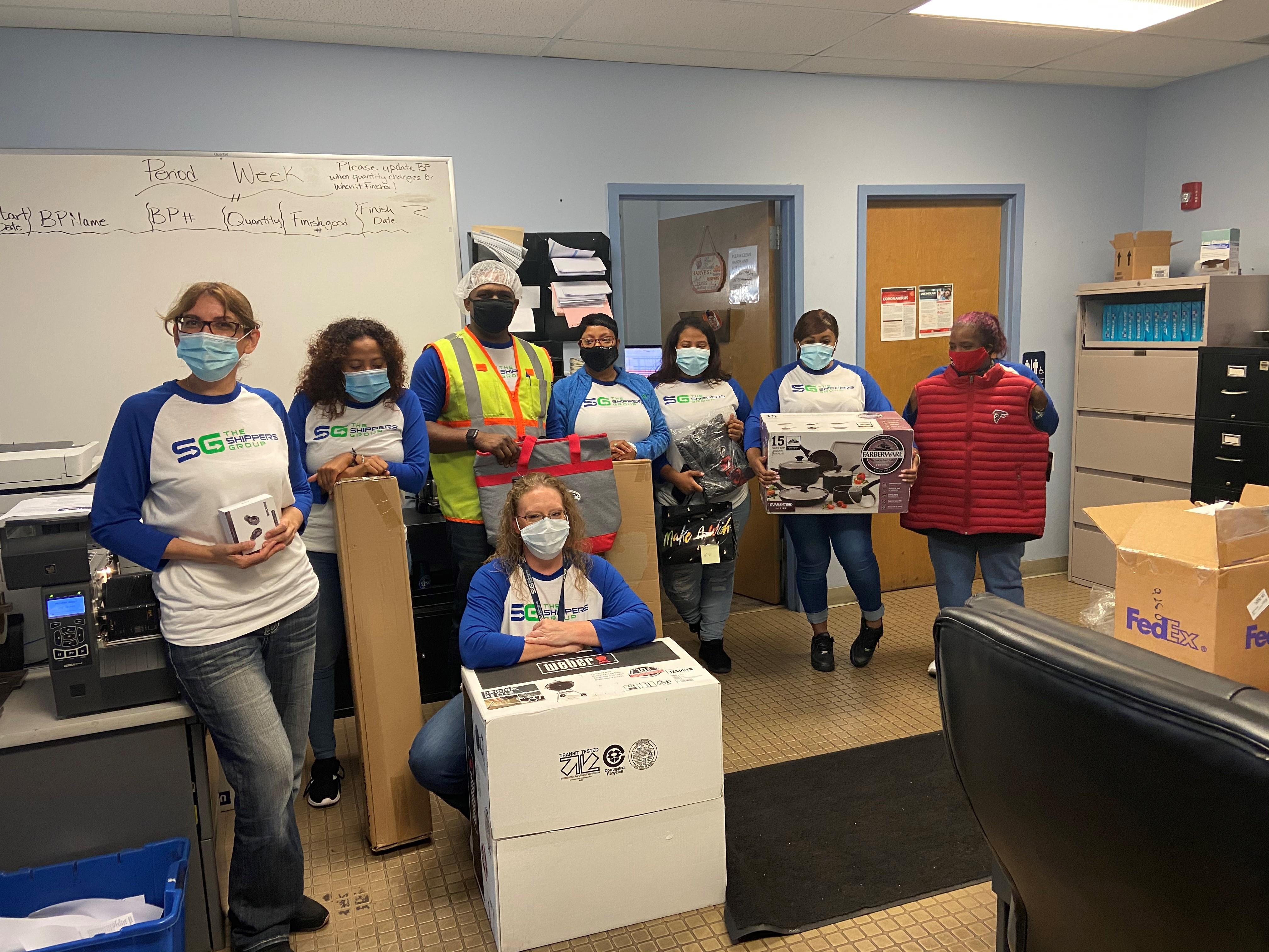 Jonesboro associates raffled prizes and played team-building games