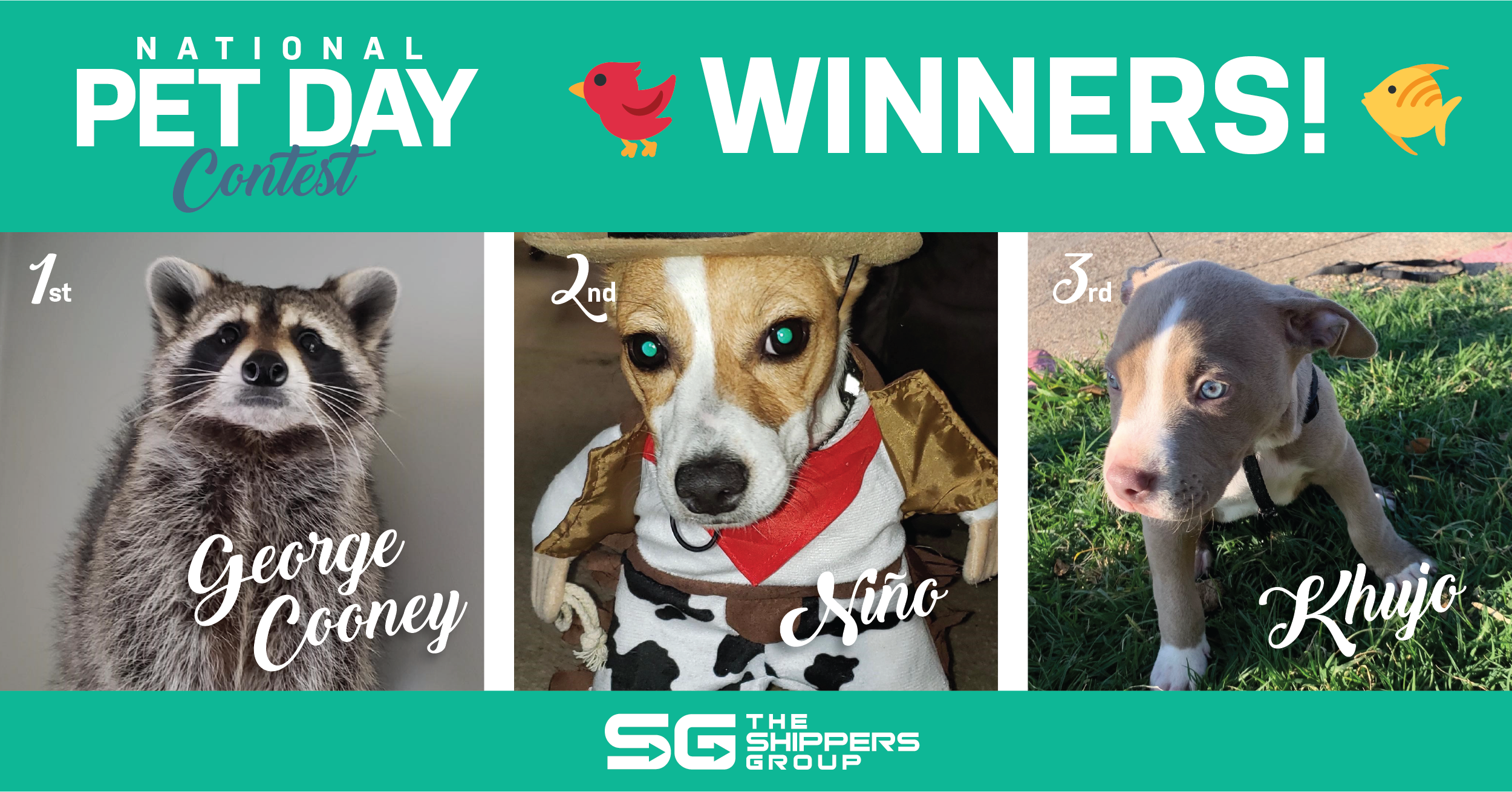TSG 2nd Annual Pet Day Contest Winners
