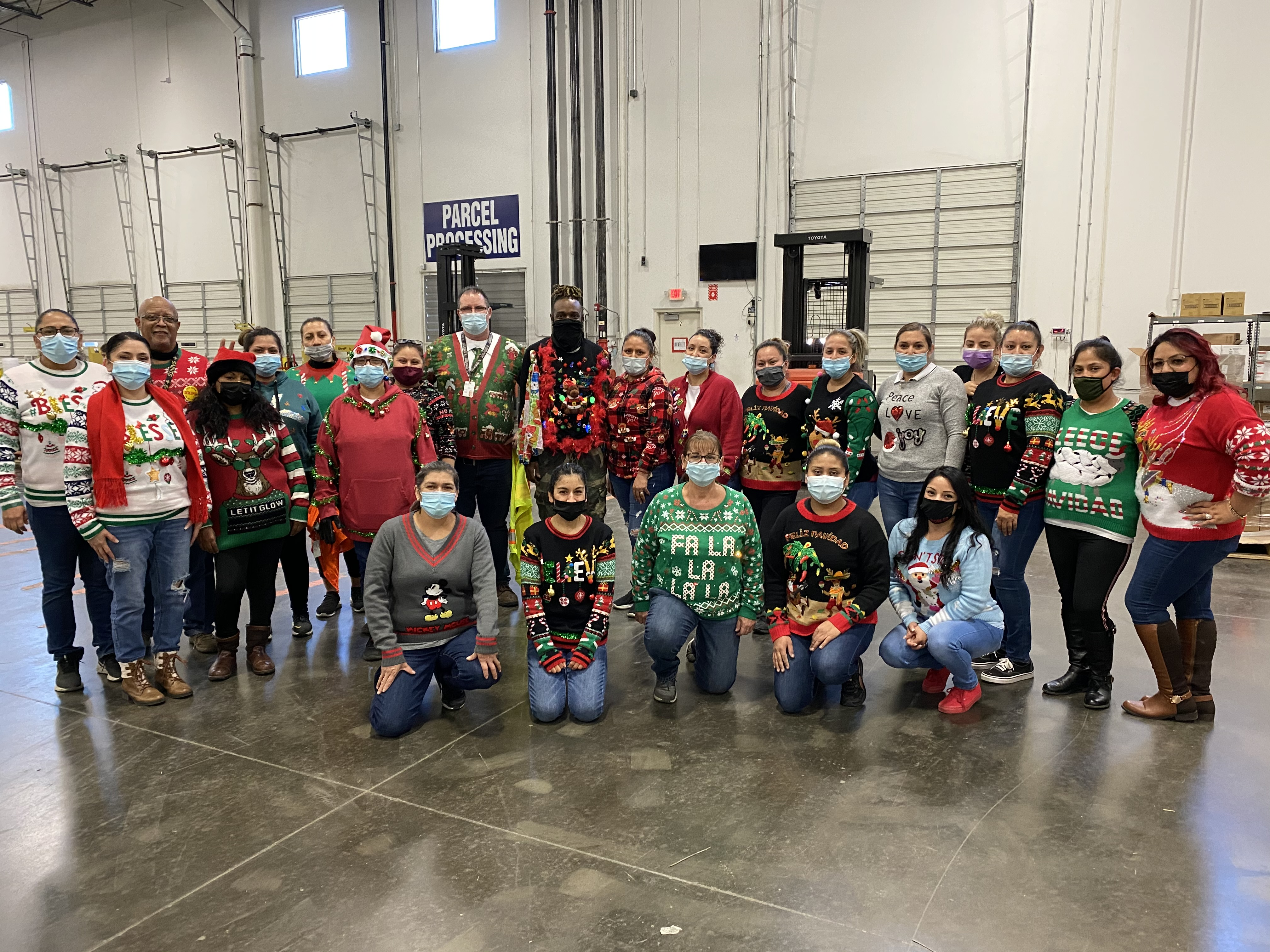 The Shippers Group Ugly Christmas Sweater Day Wintergreen-1, TX AM Shift