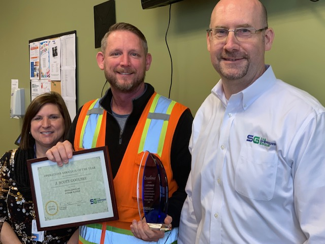 Scott Goolsby TSG 2019 Warehouse Associate of the Year