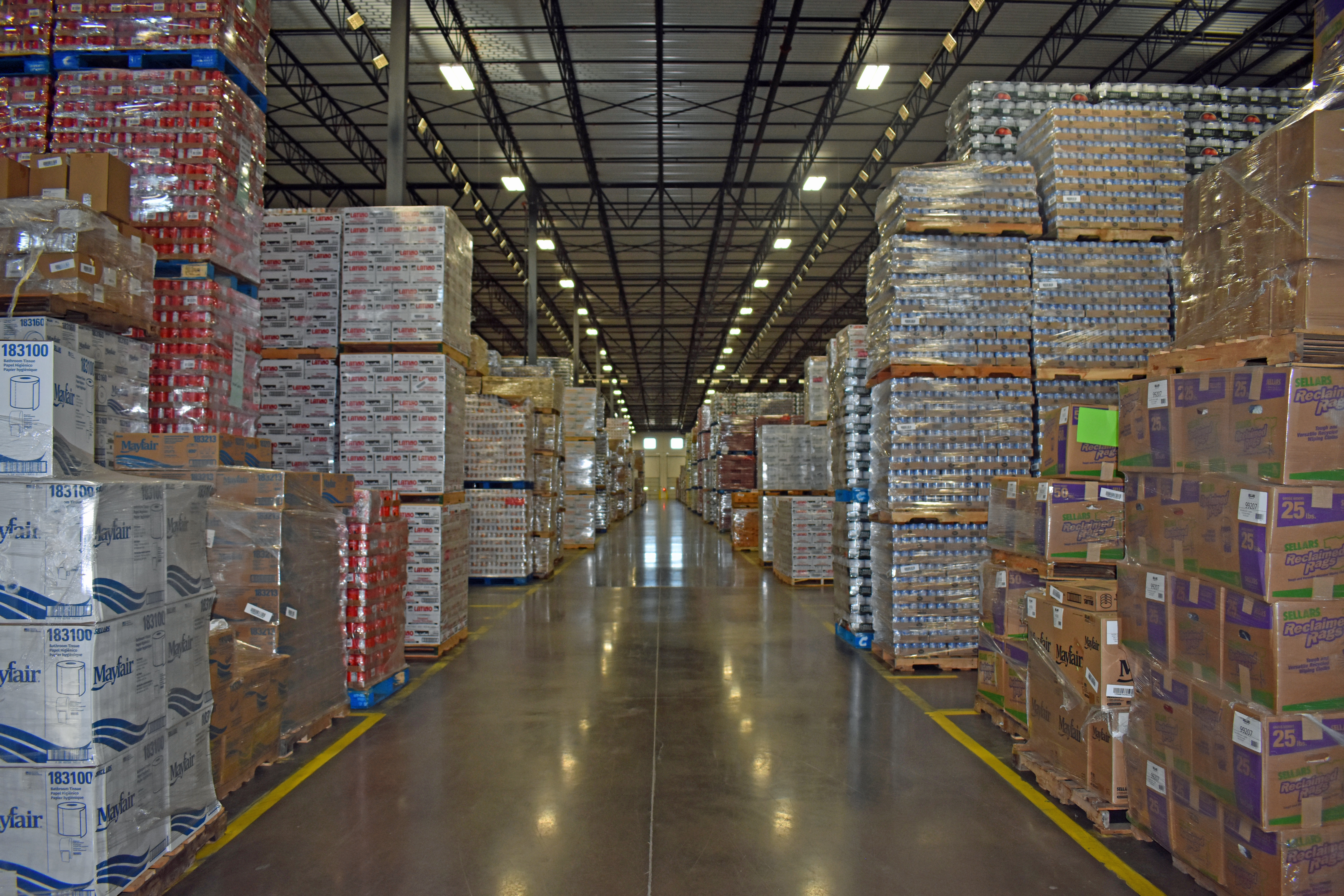 TSG Wintergreen facility filled with supplies